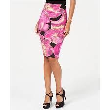 062b808f9 Thalia Sodi Printed Scuba Pencil Skirt, Created for Macy's - Purple XXL