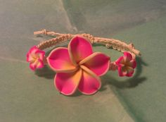 Hey, I found this really awesome Etsy listing at https://www.etsy.com/listing/203532763/hot-pink-white-and-yellow-plumeria