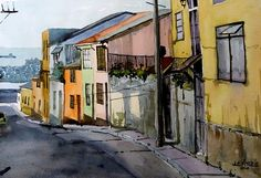 Chile, Watercolour, Watercolor Paintings, Urban Sketchers, Rest, Sketches, Adventure, The Originals, Inspiration