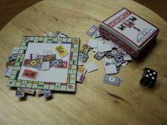 Dolls House Miniatures - Monopoly-Spiel - vintage