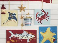 cute beach nautical decor for kids areas, bathroom etc
