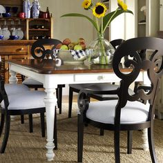 Gather friends and family for farm-fresh dinners or Sunday brunch around this country-chic dining table, showcasing turned legs and 2 drawers.