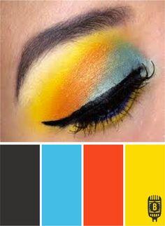 Color: Eye Shadow by Branigan Communications - granite, turquoise, orange, yellow.