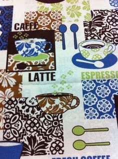 Any time is a good time for coffee that is why this cotton fabric collection is a perfect addition to your stash of quilting materials.