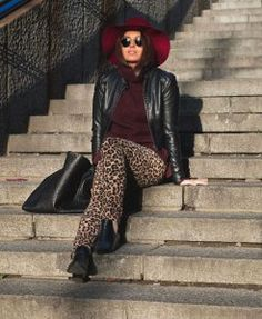 Leopard pants and burgundy Leopard Pants, My Outfit, Burgundy, Hipster, Punk, My Style, Outfits, Fashion, Moda