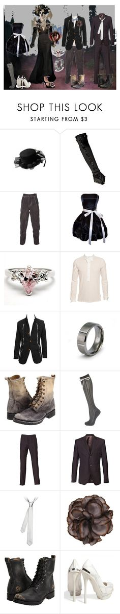 """""""When the world ends..."""" by verysmallgoddess ❤ liked on Polyvore featuring E.vil, Michal Negrin, Jason Wu, Lumen et Umbra, PacificPlex, Maison Mihara Yasuhiro, Valentino, Fantasy Jewelry Box, Frye and Alexander McQueen"""