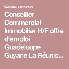 Conseiller Commercial Immobilier H/F offre d'emploi Guadeloupe Guyane La Réunion…