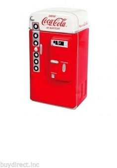 BRAND NEW GIBSON COCA-COLA CLASSIC VENDING MACHINE COLLECTIBLE COOKIE JAR & LID