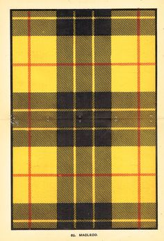 "It's my tartan! Lewis of the Clan MacLeod!~~Johnston's Scottish Tartans - ""MACLEOD"" - Chromolithograph - c1890"