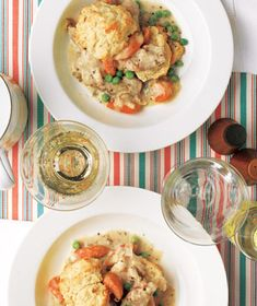 I would be lost without my slow-cooker. This recipe is comfort food to the max! It's a deconstructed chicken pot pie. Mmmm!