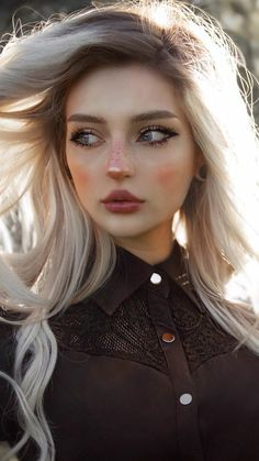 Aesthetic Women, Aesthetic People, Aesthetic Girl, Cute Girl Face, Cute Girl Photo, Pale Makeup, Makeup Looks, Prity Girl, Face Photography