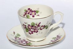 A personal favorite from my Etsy shop https://www.etsy.com/listing/463664558/duchess-violetta-tea-cup-and-matching #vintageteacup  #truevintage