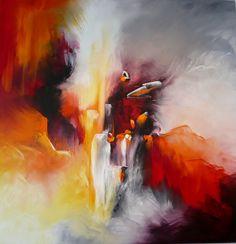 Retour par Nadine Bertulessi : Peinture, Toile, Huile, Abstrait, Art abstrait