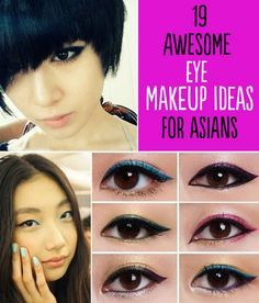 19 Awesome Eye Makeup Ideas For Asians - BuzzFeed - I do not have monolid eyes, but I do have one fairly hooded lid and sometimes the makeup tricks for one can work for the other.