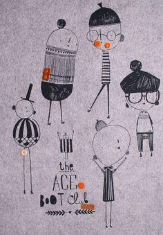 Corby Tindersticks — 'Ace boot club' felt art print