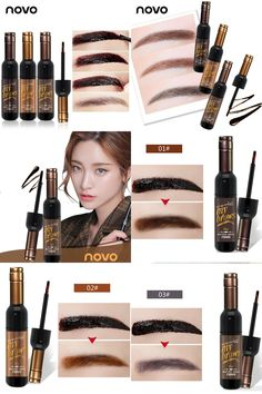 [Visit to Buy] NOVO Brand Red Wine Peel Off Dye Eyebrow Gel Cream 72h Long-lasting Sombrancelha Enhancer Wax Paint Tint My Eye Brows Gel Makeup #Advertisement