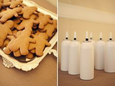 Make your own gingerbread cookie  #Winter #Wedding #Idea