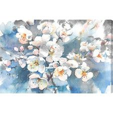 Spring Blossom Painting Print on Wrapped Canvas