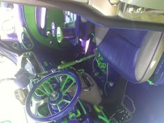 I went to a car show and this was the inside of a pt cruiser! It was awesome! Custom Car Interior, Chrysler Pt Cruiser, Car Show, Custom Cars, Automobile, Vehicles, Car Interiors, Seahawks, Campers