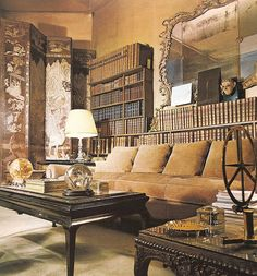 "The Coco Chanel Sofa. Coco Chanel's apartment, ""above the shop"", Rue Cambon, Paris. French Apartment, Parisian Apartment, Paris Apartments, Apartment Sofa, Coco Chanel, Chanel Paris, Rich Home, Living Spaces, Living Room"