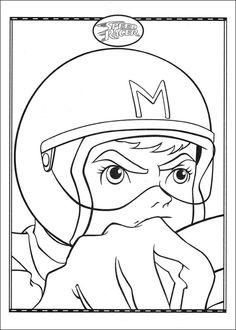 Dibujos para Colorear Speed Racer 33