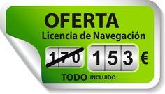 Oferta Licencia de Navegación con un 10% de dto sobre el precio marcado 2015