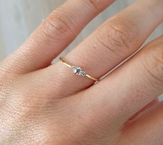 The 'Lady Capulet' Diamond 9ct/ 14ct yellow gold ring | Baby Anything