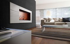 This wall is very similar to our #Richter stone panels 2/3mm, loving the fire
