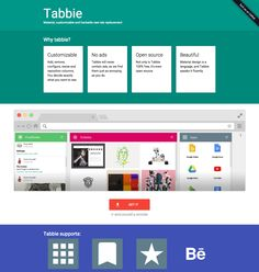 tabbie material customizable and hackable new tab replacement