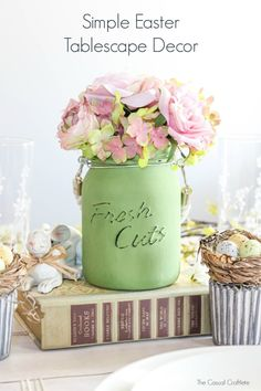 "Simple Easter Tablescape Decor-Americana Chalky Paint for Glass in ""New Life"""