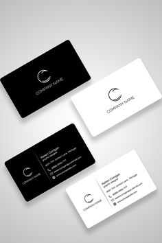 Black and White Minimal Business Card Template