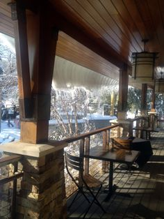 Winter Wonderland at Stone House! #restaurant #snow #beautiful
