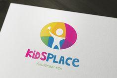 Kids Kindergarten Logo by Super Pig Shop on Creative Market