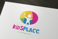 Kids Kindergarten Logo by Super Pig Shop on Creative Market