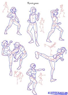 Draw Fighting poses, Step by Step, Drawing Sheets, Added by NeekoNoir, July pm Human Figure Drawing, Figure Drawing Reference, Drawing Skills, Drawing Techniques, Drawing Tips, Drawing Ideas, Anatomy Drawing, Manga Drawing, Human Anatomy