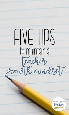 Teaching as a Profession class. Being a teacher is hard, but keeping a growth mindset will help you keep your sanity. Read about five ways to keep a growth mindset as a teacher. Growth Mindset Classroom, Growth Mindset Activities, Education Quotes For Teachers, Teacher Resources, Teacher Education, Primary Education, Teacher Blogs, Teacher Quotes, Teacher Staff Development