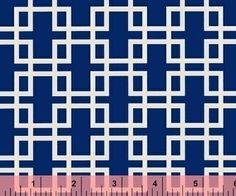 Anna Griffin, Retro Squares in Blue, Darcey Collection by fabricsupplies on Etsy - fabric