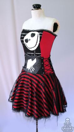 red black Nightmare Before Christmas stripe corset dress [sold] Punk Outfits, Cool Outfits, Fashion Outfits, Visual Kei, Nightmare Before Christmas Dress, Jack The Pumpkin King, Estilo Rock, Grunge Goth, Emo Goth
