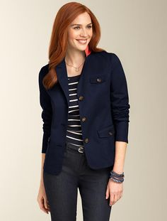 Talbots - Stretch Twill Jacket | Jackets and Outerwear | Misses