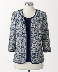 Jacquard floral jacket #Coldwater Creek
