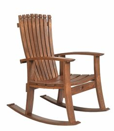 Rustic Log Furniture, Amish Furniture, Furniture Plans, Wine Barrel Chairs, Whiskey Barrel Furniture, Barrel Table, Amish Rocking Chairs, Rocking Chair Plans, Yellow Accent Chairs