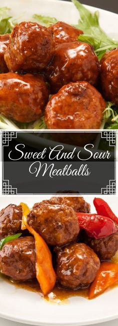 Sweet And Sour Meatballs - Food Today - The ingredients and how to make it please visit the website recipes Sweet N Sour Meatball Recipe, Meatball Recipes, Beef Recipes, Cooking Recipes, Healthy Recipes, Sweet And Sour Recipes, Barbecue Recipes, Simple Recipes, Cooking Tips