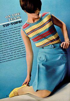 Seventeen Editorial shot by Carmen Schiavone 1966 Biba Fashion, 60s And 70s Fashion, Mod Fashion, Vintage Fashion, Womens Fashion, Robes Vintage, Vintage Outfits, Lauren Hutton, Fashion Outfits