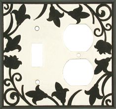 Almond Filigree Ceramic Light Switch Plates, Outlet Covers, Wallplates