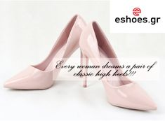 #high #heels #pink #shoes Only 29.99€ www.eshoes.gr Pink Shoes, Every Woman, Comfortable Shoes, Most Beautiful, Kitten Heels, High Heels, Glamour, Pumps, Classic
