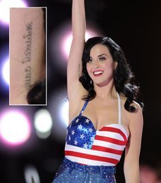 """Katy Perry's ink says, """"Go with the flow."""""""