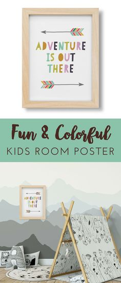 This adventurous kids room wall print would look great in a wilderness or woodland nursery. I love these mountains painted on a wall too! Monochrome and scandinavian woodland nursery theme is my absolute favorite these days! Playroom Art, Playroom Design, Room Under Stairs, Scandinavian Kids Rooms, Branch Decor, Kids Wall Decor, Room Posters, Woodland Nursery, Coloring For Kids