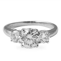 1.53 CT ROUND DIAMOND 14K WHITE GOLD ENGAGEMENT RING