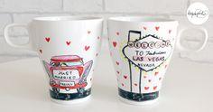 JUST MARRIED! EL regalo más original para los invitados de tu boda. http://www.laquepinta.com/artistazas-como-detalle-de-boda/