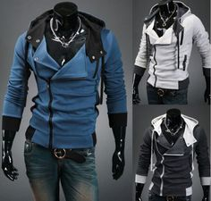 Get a look like Desmond Miles from Assassin's Creed in these hooded jackets based on the world famous game.  unique-outfit.com